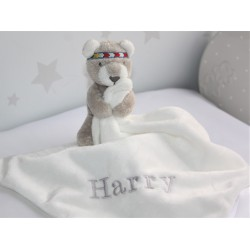 Personalised Teddy Bear Comforter / Baby blankets /Baby Snuggle