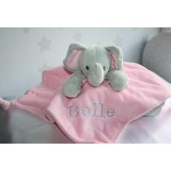 Pink ELEPHANT *Personalised Baby Comfort Blanket, Baby comforters