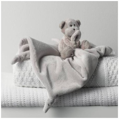 The Little White Company Monkey Comforter