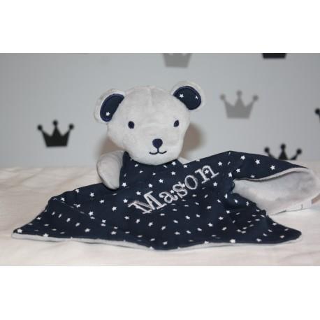 Personalised Teddy Bear Comforter / Blanket / Teether Blanket / Activity Baby Blanket / Soother Blanket