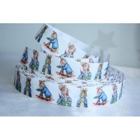 Peter Rabbit Printed Grosgrain Ribbon 22mm -Crafts