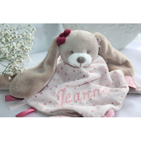 NATTOU doudou , Personalised comforter, baby snuggle, Bunny Baby Blankets