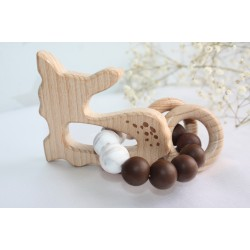 Deer Teether, Wooden Baby Teether Toy