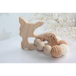 Deer Teether, Wooden Rattle