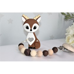 Deer Silicone Teether - Brown