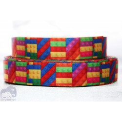 * LEGO -Bricks * Printed Grosgrain Ribbon 22mm -Crafts
