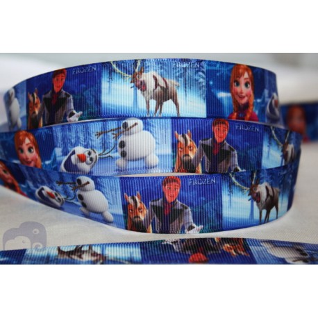 * FROZEN * Printed Grosgrain Ribbon 22mm -Crafts