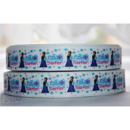 * FROZEN little SISTERS * Printed Grosgrain Ribbon 22mm -Crafts