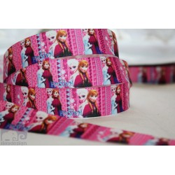 * FROZEN - Pink * Printed Grosgrain Ribbon 22mm -Crafts