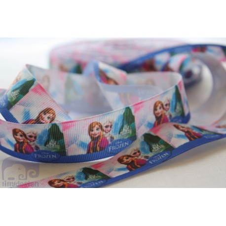 "M2M * FROZEN 02 * 7/8"" Character Grosgrain Ribbon , Crafts - 1m"