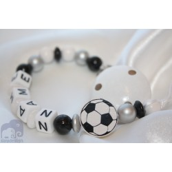 Personalised dummy chain clip holder soother boys Ball