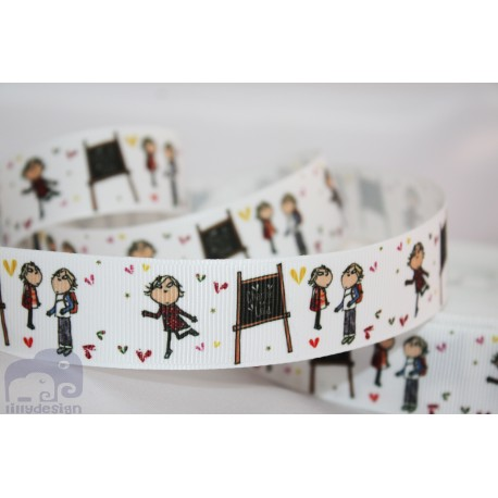 """M2M * LOLLA & CHARLIE * 7/8"""" Character Grosgrain Ribbon , Crafts - 1m"""