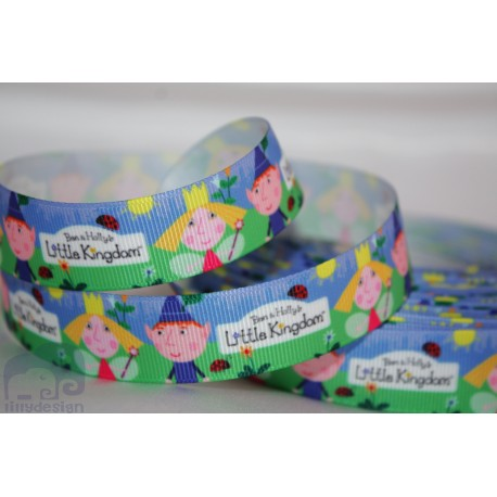 "M2M *BEN & HOLLYS / Little KINGDOM * 7/8"" Character Grosgrain Ribbon , Crafts - 1m"