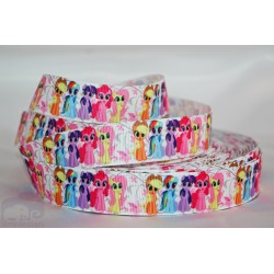 My LITTLE PONY -White Character Grosgrain Ribbon , Crafts - 1m