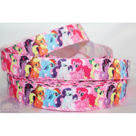 My LITTLE PONY -Pink Character Grosgrain Ribbon , Crafts - 1m