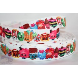 M2M SHOPKINS Character Grosgrain Ribbon , Crafts - 1m