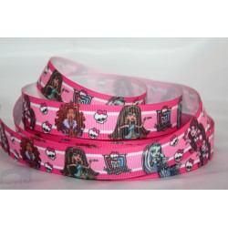 M2M MONSTER HIGH Printed Grosgrain Ribbon 22mm -Crafts