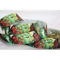TIANA PRINCESS AND THE FROG Printed Grosgrain Ribbon 22mm -Crafts