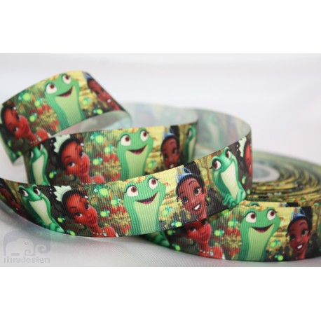 TIANA PRINCESS AND THE FROG Character Grosgrain Ribbon , Crafts - 1m