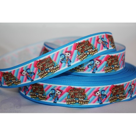 Sheriff Callie blue Printed Grosgrain Ribbon 22mm -Crafts