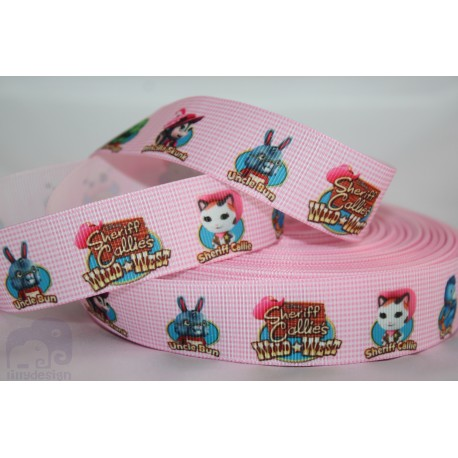 Sheriff Callie - Head Printed Grosgrain Ribbon 22mm -Crafts