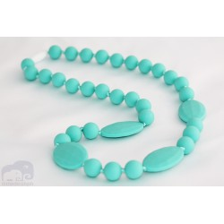 Turquoise Silicone Breastfeeding Nursing Necklace Chew Teething