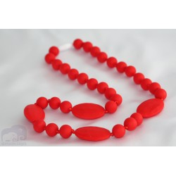 Red Silicone Breastfeeding Nursing Necklace Chew Teething