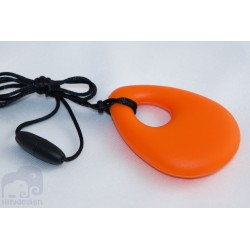 Orange Teardrop Pendant Baby Teething Necklace Silicone Teether