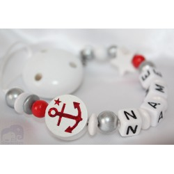 ANCHER * White Personalised Wooden Dummy Chain