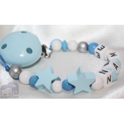 Two Star's Personalised Wooden Dummy Clip / Chain / Holder / Pacifier