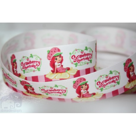 SHORTCAKE Printed Grosgrain Ribbon 22mm -Crafts