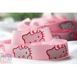 HELLO KITTY *- Face Printed Grosgrain Ribbon 22mm -Crafts
