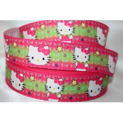 HELLO KITTY * Coloured Printed Grosgrain Ribbon 22mm -Crafts