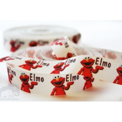 ELMO Printed Grosgrain Ribbon 22mm -Crafts