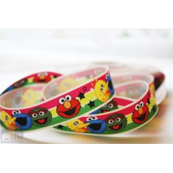 SESAME STREET Printed Grosgrain Ribbon 22mm -Crafts