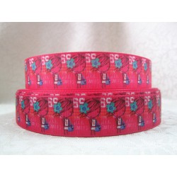 "1 metre 7/8"" Next M2M * PINK GIRL* Grosgrain Ribbon"
