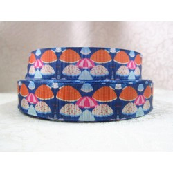 "1 metre 7/8"" Next M2M * SUMMER BROLLIES * Grosgrain Ribbon"