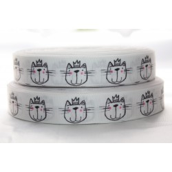 "1 metre 7/8"" Next M2M * CROWN CAT * Grosgrain Ribbon"