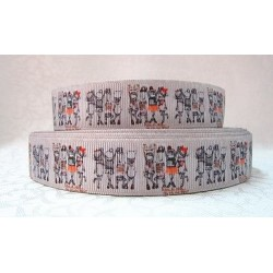 "1 metre 7/8"" Next M2M * ECRU 4 GIRLS * Grosgrain Ribbon"