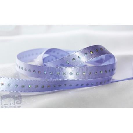 3/8'' Lavender Diamond silky satin ribbon wedding - 1 m