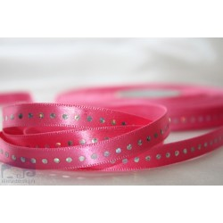 3/8'' Hot Pink Diamond silky satin ribbon wedding - 1 m