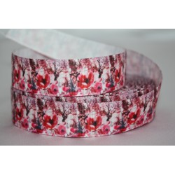 "1 metre 7/8"" Next M2M * POPPY'S * Grosgrain Ribbon"