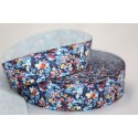 "1 metre 7/8"" Next M2M *Small Purple Flowers * Grosgrain Ribbon"