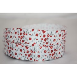"1 metre 7/8"" Next M2M * TINY Red FLOWERS* Grosgrain Ribbon"