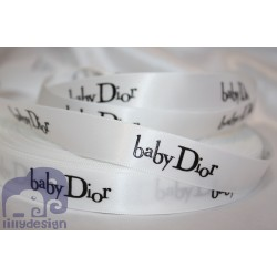 Baby White Satin Ribbon 5/8``(16mm.) - 1 metre