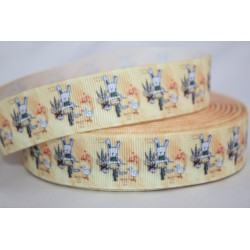 "1 metre 7/8"" Next M2M * Rabit in Bike * Grosgrain Ribbon"