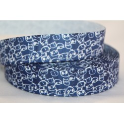 "1 metre 7/8"" Next M2M * Navy Cat Head * Grosgrain Ribbon"