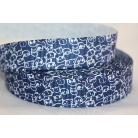"1 metre 7/8"" Next M2M * Navy Cat Head * Grosgrain"