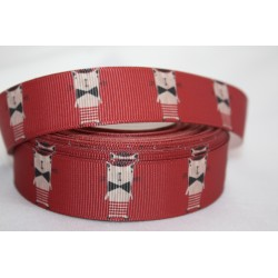 "1 metre 7/8"" Next M2M * Cat with Bow * Grosgrain Ribbon"