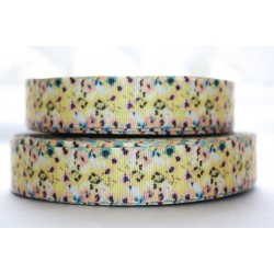 "1 metre 7/8"" Next M2M * Yellow Flower* Grosgrain Ribbon"